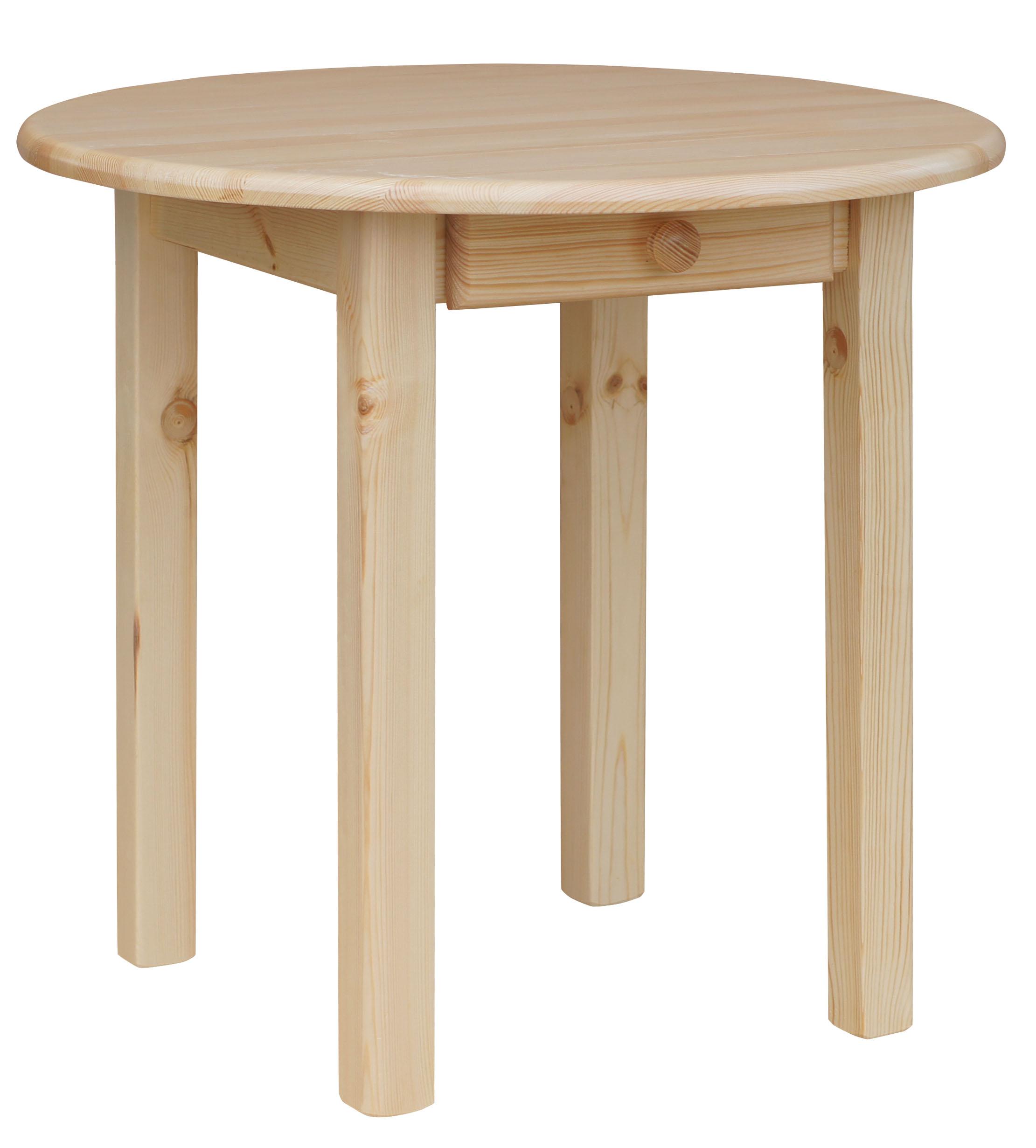 runder kiefer tisch mit schublade esstisch k chentisch massiv restaurant neu ebay. Black Bedroom Furniture Sets. Home Design Ideas